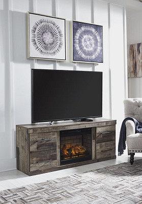 "Derekson 60"" TV Stand with Fireplac..."