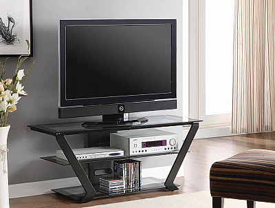 2-Tier TV Console Black